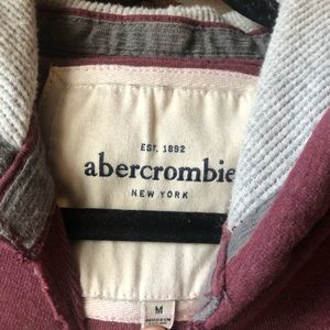Abercrombie & Fitch Tops - Abercrombie Size Medium Maroon Distressed Hoodie